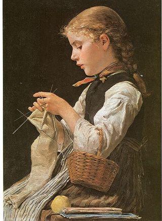 ggirl knitting