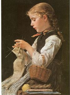 ggirl knitting